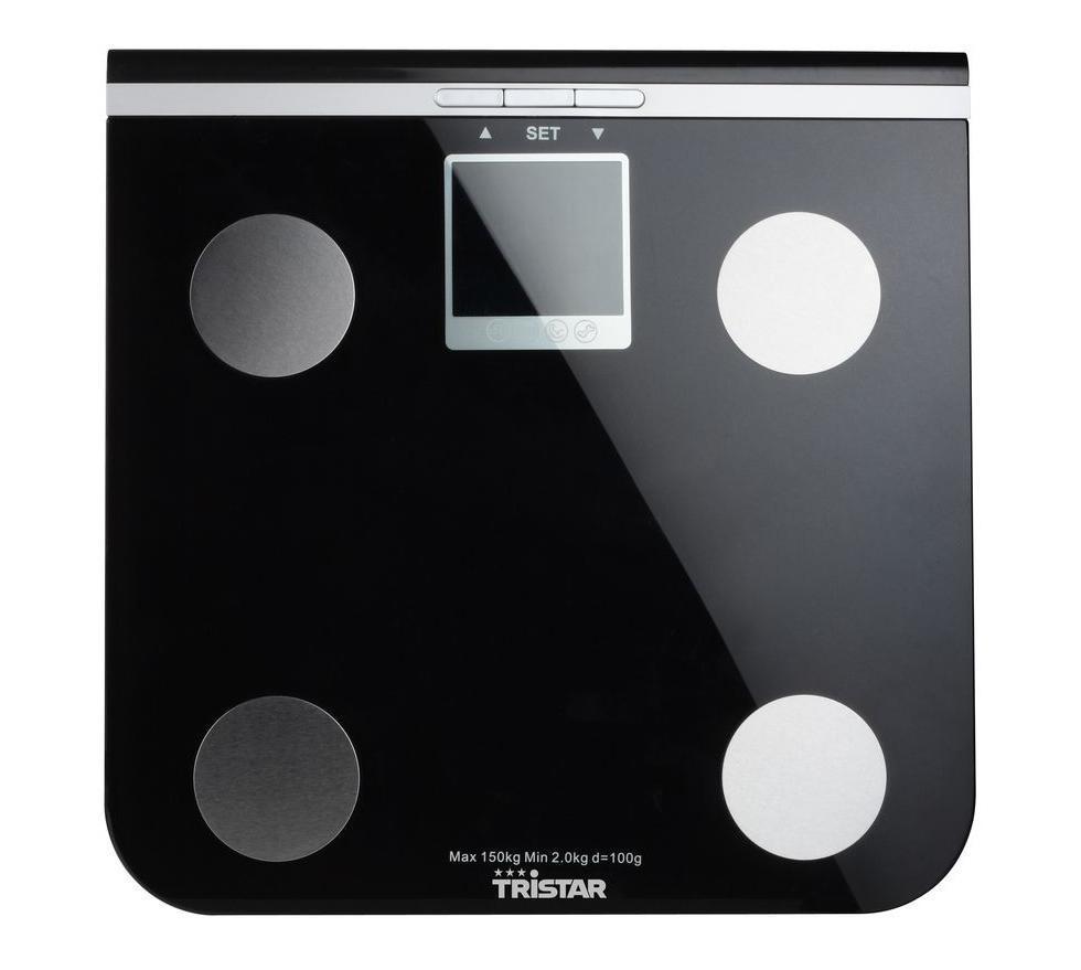 Tristar WG-2424 напольные весы с анализаторомWG-2424Ультратонкие электронные диагностические весы с поверхностью из высокопрочного стекла для измерения веса тела, процентного содержания жидкости в организме, измерения костной и жировой ткани. Весы также оснащены индикаторами перегрузки и заряда батареи. Дополнительные функции: Память до 10 людей Индикатор перегрузки Переключение единиц измерения: кг/фунты/стоуны