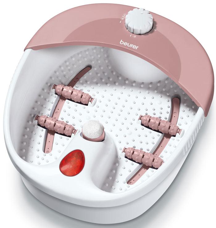 Гидромассажная ванна для ног Beurer FB201092016Гидромассажная ванночка Beurer FB20 обеспечивает эффективный массаж различных видов: вихревой и вибромассаж или более точный массаж рефлекторных зон. Сменные насадки позволяют тщательно ухаживать за чувствительной кожей стоп. Инфракрасное излучение оказывает дополнительный эффект, помогающий снять усталость и расслабить натруженные мышцы. Преимущества модели: вихревой и мягкий гидромассаж стимулируют кровообращение, происходит процесс насыщения кислородом клеток; для удобства пользователя и в целях безопасности имеются противоскользящие резиновые ножки; предусмотрена возможность использования ванночки без воды; расслабляющие инфракрасные световые точки снижают болевые ощущения, регенерируют ткани, усиливают лимфообращение и служат отличной профилактикой простуды; аппарат имеет съемные роликовые насадки; производит массаж рефлекторных зон ног, являющихся проекцией внутренних органов, а следовательно, повышает работоспособность и...