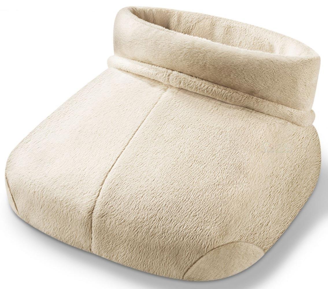 Электрогрелка для ног Beurer FWM501092029Электрогрелка для ног FWM50 объединяет в себе приятное тепло и профессиональный массаж шиацу. Используя электрогрелку FWM50 можно снять напряжение, боли, усталость, расслабиться и восстановить силы. Грелка сделана из мягкого, приятного на ощупь материала. Внутренняя подкладка грелки легко стирается. Одна ступень нагрева Массаж шиацу 2 режима работы - тепло и массаж Тепло и массаж можно применять одновременно или независимо друг от друга Подходит для ног большого размера Плюшевая подкладка стирается вручную
