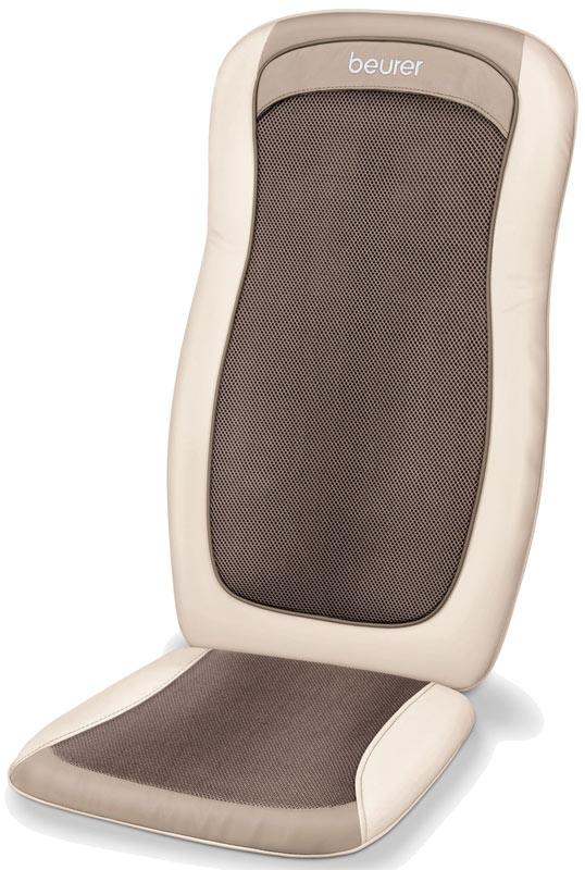 Массажная накидка Beurer MG200 cream1092046Массажная накидка Beurer MG200 cream осуществляет массаж шиацу в области спины и избавит вас от скованности в мышцах, стресса, поможет расслабиться. Массажные ролики вращаются и двигаются аналогично рукам профессионала. Массаж шиацу - это китайский массаж, который гармонизирует физическое и психическое состояние, активизируя механизмы саморегуляции организма. Накидка MG200 располагается на кресле, стуле или диване, а при помощи пульта управления можно выбрать область массажа (вся спина или определённая зона спины). Подключаемая функция подсветки и подогрева Съемная подушка для сидения Чехол из велюра для спинки Съемная подушка для сидения Возможность выбора массажной зоны Верхний или нижний отдел спины, вся спина Простое обслуживание с помощью ручного выключателя Прочный корпус Простое обслуживание с помощью ручного выключателя