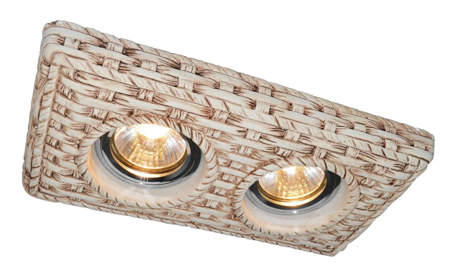 A5207PL-2WC PEZZI Встраиваемый светильникA5207PL-2WC2x50W; патроны в комплекте GU10 и G5.3; Светильник можно красить