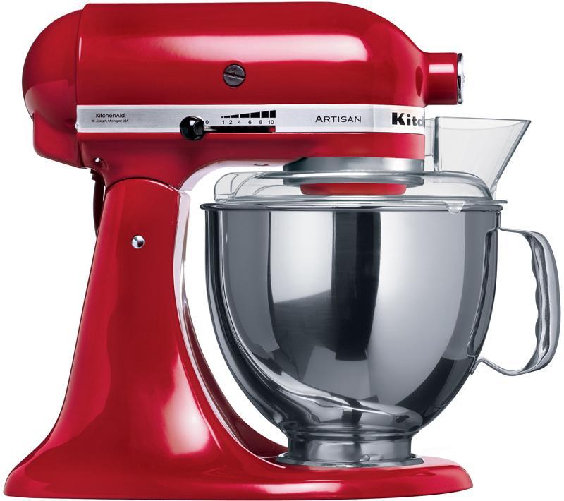 KitchenAid Artisan (5KSM150PSEER), Red миксер планетарныйArtisan 5KSM150PSE красный