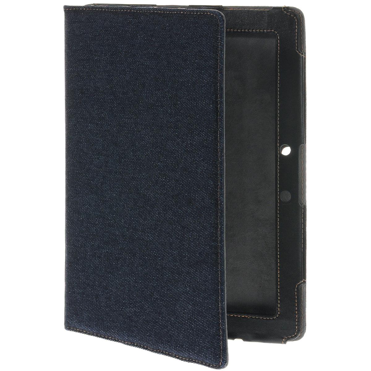 IT Baggage Jeans чехол для Asus TF701/TF700, Black BlueITASTF708-4Жесткое основание чехла IT Baggage Jeans для Asus TF701/TF700 станет отличной защитой устройства от сколов при случайном падении во время эксплуатации, а мягкая внутренняя подложка сохранит экран планшета от царапин и потертостей. Кроме того, крышка чехла может сгибаться, превращаясь подставку, удобную для чтения или просмотра фильмов.