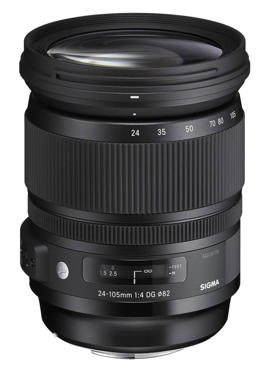 Sigma AF 24-105mm f/4.0 DG OS HSM Art объектив для Nikon635955Sigma AF 24-105mm f/4.0 DG OS HSM Art - новейший полнокадровый объектив для продуктов компании Nikon типа стандартный зум. Он предназначен для камер с полноформатными сенсорами. Имеет постоянную светосилу и обладает стабильно высоким качеством изображения на всем диапазоне фокусных расстояний. Вы можете использовать данную модель для съемки широкого спектра сюжетов. Более того, объектив имеет разрешение, которое превышает разрешение существующих на рынке камер и может эффективно использоваться с камерами нового поколения.