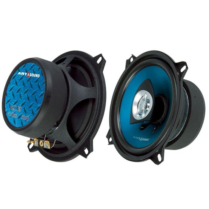 Art Sound ALX 52 автомобильная акустикаALX 52Акустика серии AL идеально подойдёт как для несложных систем с внешним усилителем, так и для систем, работающих от встроенного усилителя магнитолы. Корзина из легированной стали с антирезонансным покрытием обеспечивает чистый звук и стабильность характеристик динамика в целом. Жесткий анодированный полипропиленовый диффузор имеет высокую жесткость на изгиб, при этом оставаясь достаточно лёгким. Подвес из вспененного полимера достаточно мягкий, чтобы обеспечить высокую чувствительность акустике, но, при этом, благодаря особой обработке, он достаточно прочен и не боится УФ-излучения и перепадов температуры. Коаксиальные модели оснащены ВЧ-динамиками с куполами из майлара и фильтрами первого порядка. Диффузор динамика ALX52 полипропиленовый, покрытый слоем алюминия, а голубой и чуть зеленоватый цвет обеспечивает лак. Корпус динамиков хорошо заглушён. Магнит крупный, снаружи закрыт чехлом. Рамка защитной решётки монтируется под обод корпуса. Провода к пищалке...
