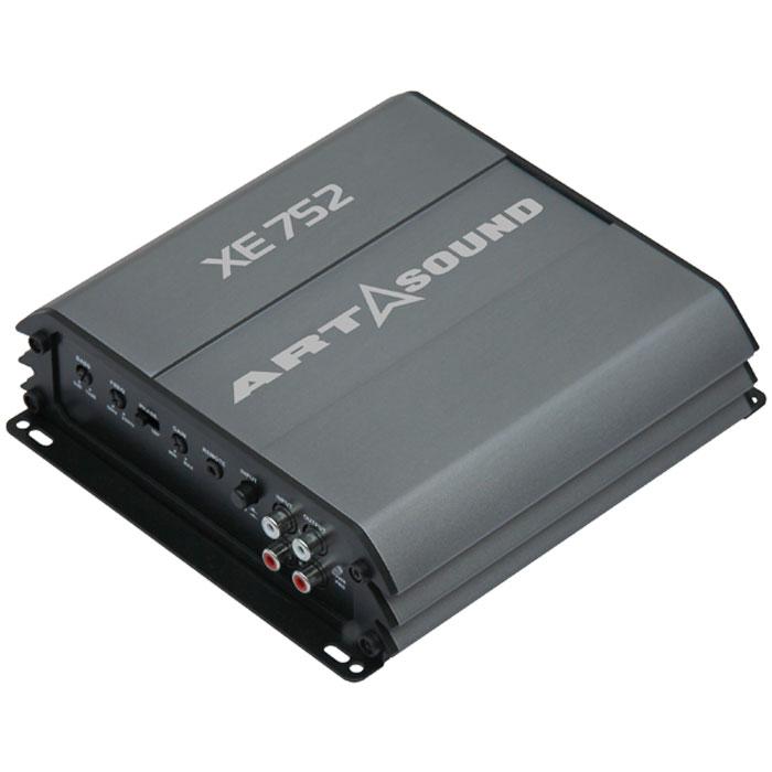 Art Sound XE 752 усилительXE 752Усилитель Art Sound XE 752 отличается небольшими габаритами, высокой мощностью и богатым функциональным оснащением. Это двухканальный усилитель. Он выдаёт 75 Вт на нагрузку 2 Ом или 50 Вт в 4 Ом. При мостовом включении усилитель с лёгкостью выдаёт 150 Вт, чего вполне достаточно для сабвуфера. Секция предусилителя оснащена отдельным разъёмом для высокоуровневого входа, линейным выходом, кроссовером с плавной перестройкой частоты для режима ФНЧ и трёхступенчатым бас-бустом. Этот усилитель - идеальный выбор как для самого первого апгрейда штатной музыки, так и для продвинутых систем с полосным усилением.