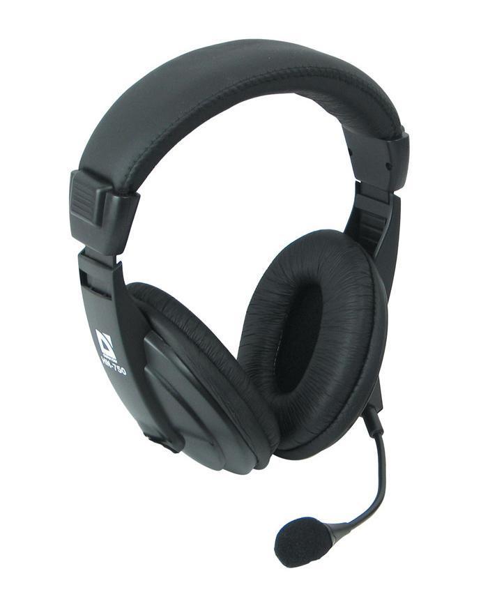 Defender Gryphon HN-750 наушники с микрофономGryphon HN-750Черные наушники Defender Gryphon HN-750 имеют регулируемое оголовье. Оно гарантирует крепкую посадку и исключает появление усталости при долгом использовании. Охватывающая конструкция обеспечивает высокую звукоизоляцию. Акустическое оформление закрывает корпусом заднюю часть динамиков. Интервал воспроизводимых частот 18-20000 Гц позволяет воплотить выразительное звучание любимых композиций. Наличие микрофона делает возможным общение в Скайпе или других сервисах интернет-телефонии, могут они послужить и геймерам для общения в голосовом командном чате. Гарнитура Defender Gryphon HN-750 подходит для ежедневной эксплуатации. Простым движением пальца вы можете изменять громкость при прослушивании. Динамик в 40 мм в каждом наушнике обеспечивает полное проникновение в любимую музыку. Высокая чувствительность в 105 дБ с импедансом 32 Ом гарантирует звонкое воспроизведение композиций. При помощи двужильного кабеля длиной 2 м осуществляется подключение к ...