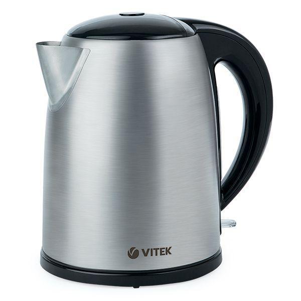 Vitek VT-1108 SR электрочайникVT-1108Стильный, удобный в использовании и практичный электрический чайник VITEK VT-1108 отлично впишется в интерьер современной кухни. Данная модель изготовлена из пищевой нержавеющей стали высокого качества, не выделяет вредных веществ в воду при кипячении, соответственно, не наносит урон вашему здоровью. VITEK VT-1108 устойчив к воздействию различных кислот и щелочей, к тому же не меняет вкус воды и абсолютно безвреден. Отличительными характеристиками модели являются: объем 1,7 л при компактном размере, корпус изготовлен из высококачественной нержавеющей стали, а так же качественный нагреватель.