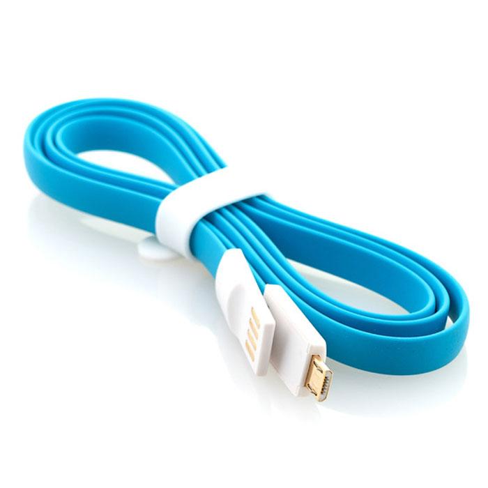 Gmini mCable MUS200F, Blue кабель USBАК-00000526Кабель Gmini mCase MUS200F позволяет подключать к порту USB компьютера или зарядного устройства смартфоны, планшеты, телефоны, MP3-плееры, игровые приставки с разъемом microUSB. Он изготовлен из зеленого, розового или синего пластика. Имеет плоский не запутывающийся профиль.