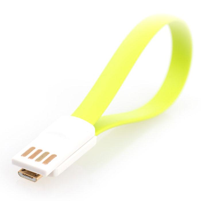 Gmini mCable MUS200F-M, Green кабель USBАК-00000528Кабель Gmini mCase MUS200F-M позволяет подключать к порту USB компьютера или зарядного устройства смартфоны, планшеты, телефоны, MP3-плееры, игровые приставки с разъемом microUSB. Изготовлен из зеленого, розового или синего пластика Имеет плоский не запутывающийся профиль Оснащен магнитным креплением в разъемах