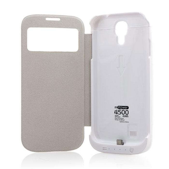 Gmini mPower Case MPCS45F, White чехол-аккумуляторАК-00000552Чехол Gmini mPower Case MPCS45F со встроенной аккумуляторной батареей защищает ваш телефон от повреждений и позволяет увеличить время работы от одной зарядки в два и более раза. Крышка чехла Gmini mPower Case MPCS45F оборудована специальным окошком, которое позволит определить состояние смартфона, не открывая при этом сам чехол: ответить на входящие вызовы, просмотреть все уведомления о пропущенных событиях. Специальный датчик позволяет автоматически включать и выключать экран смартфона при открытии и закрытии чехла соответственно.