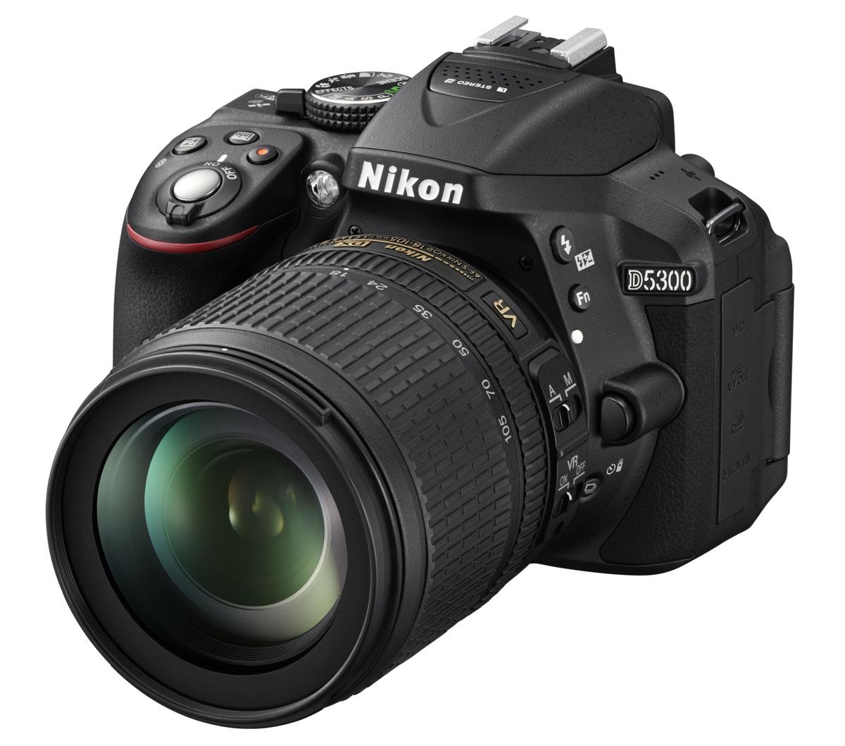 Nikon D5300 Kit 18-105 VR, Black цифровая зеркальная фотокамераVBA370K004