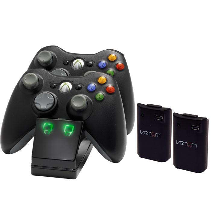 X360: Зарядная станция Venom на 2 геймпада c 2-мя аккумуляторами (VS2891)