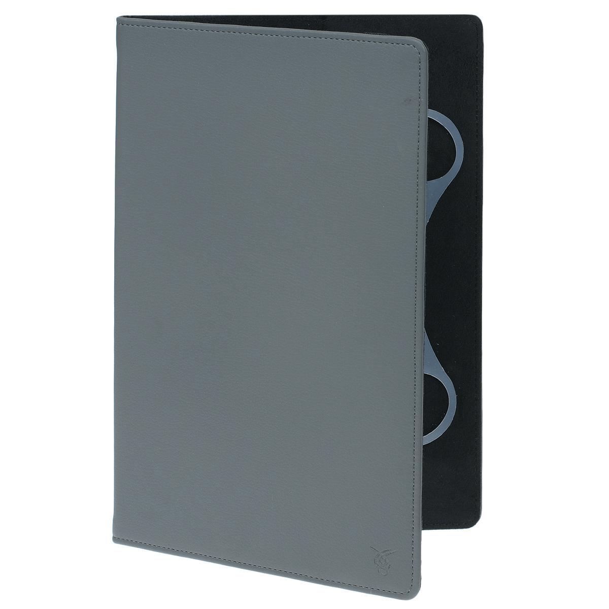 Vivacase Basic универсальный чехол-обложка для планшетов 11, Gray (VUC-CM011-gr)VUC-CM011-grУниверсальный чехол-обложка Viva Basic для планшетов 11, который подходит для любых популярных планшетов с диагональю дисплея в 11 дюймов. Он изготовлен из качественной ПУ-кожи, которой обтянут прочный каркас, защищающий устройство во время падений. Внутренняя часть отделана мягкой подкладкой, которая не оставляет никаких следов на корпусе и дисплее.