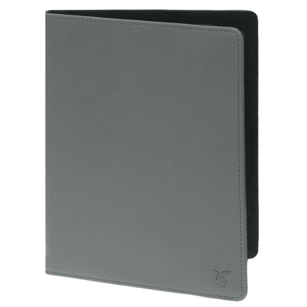 Vivacase Basic универсальный чехол-обложка для планшетов 9, Gray (VUC-CM009-gr)VUC-CM009-grУниверсальный чехол Vivacase с резиновым креплением, который подходит для любых популярных планшетов и электронных книг с диагональю дисплея в 9 дюймов. Он изготовлен из качественной ПУ-кожи, которой обтянут прочный каркас, защищающий устройство во время падений. Внутренняя часть отделана мягкой подкладкой, которая не оставляет никаких следов на корпусе и дисплее. Каркас из тонкой и мягкой резины позволяет прочно и надежно закрепить устройство подходящего размера. Для того чтобы установить устройство в альбомной ориентации, удобной для просмотра видео или чтения, чехол имеет подвижную площадку и два углубления, которые позволяют зафиксировать планшет под двумя разными углами.