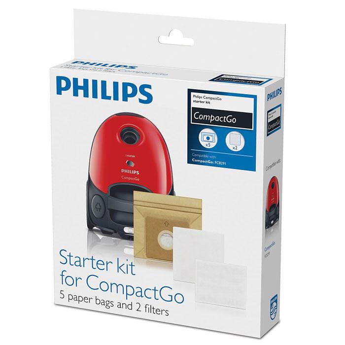 Philips FC8018/01 пылесборник для FC8291/02 (5 шт.)FC8018/01Philips FC8018/01 - комплект бумажных пылесборников (5 шт.) и фильтров (микрофильтр и моторный фильтр) для пылесоса Philips CompactGo FC8291/02.