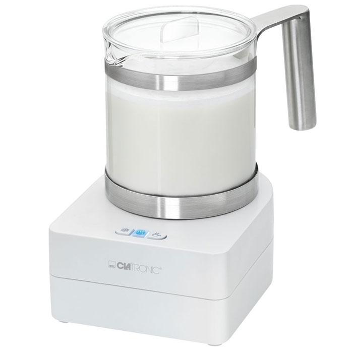 Clatronic MS 3511 вспениватель молокаMS 3511 glasClatronic MS 3511 - компактный и надежный вспениватель молока со встроенным подогревателем. Прибор вспенивает, подогревает теплое и холодное молоко, а также удобно моется благодаря съемному элементу взбивания (бесшумный магнитный венчик).