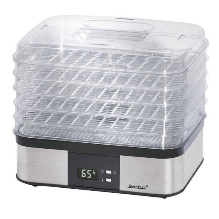 Steba ED 5 сушилка для овощей и фруктовED 5Электросушилка Steba ED 5 отлично подходит для сушки трав, цветов, фруктов, ягод и овощей. Рабочая температура от 40°С до 70°С. Имеет регулируемый термостат и дисплей. Встроенный таймер на 36 часов В комплекте подложка для трав Рабочая поверхность 50 х 320 х 250 мм