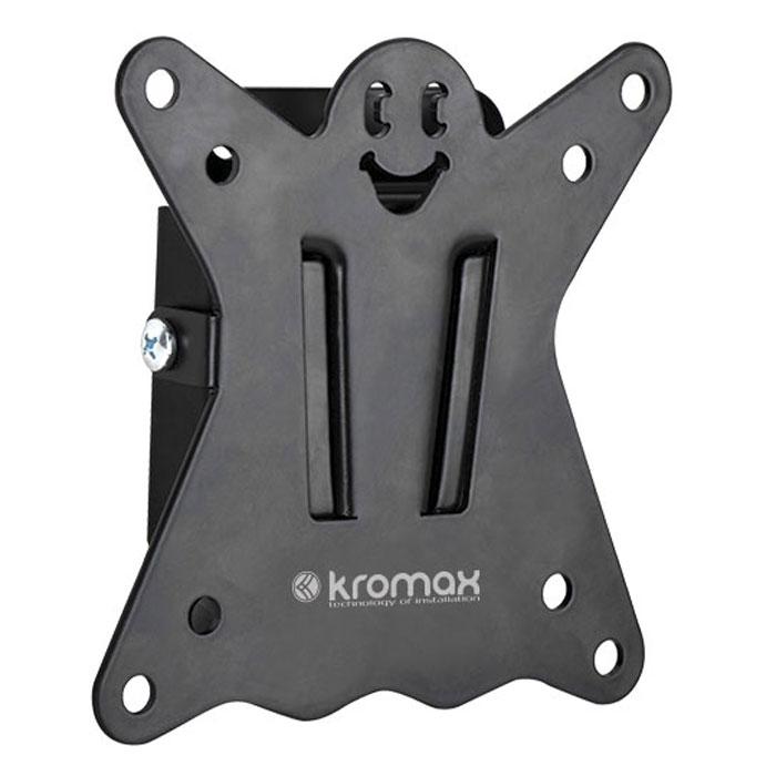 Kromax Casper-100, Black настенный кронштейн для ТВCASPER-100Оригинальный фиксированный ультратонкий кронштейн Kromax Casper-100 идеально подходит для всех LED/LCD телевизоров с диагональю экрана от 10 до 26 дюймов.