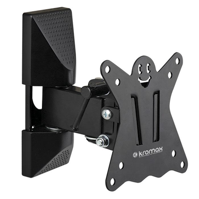Kromax Casper-102, Black настенный кронштейн для ТВCASPER-102Оригинальный наклонно-поворотный кронштейн Kromax Casper-102 идеально подходит для всех LED/LCD телевизоров с диагональю экрана от 10 до 26 дюймов. Предусмотрена удобная и простая установка, благодаря встроенному водяному уровню и съемной монтажной пластине.
