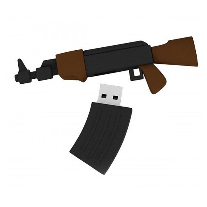 Iconik AK74 32GB USB-накопительRB-AK74-32GBФлеш-накопитель Iconik RB-AK74 имеет весьма нестандартный дизайн, он сделан в виде автомата. Накопитель ударопрочный и защищен резиновым корпусом, а высокая пропускная способность и поддержка различных операционных систем делают его незаменимым. Iconik RB-AK74 - отличный выбор современного творческого человека, который любит яркие и нестандартные вещи.
