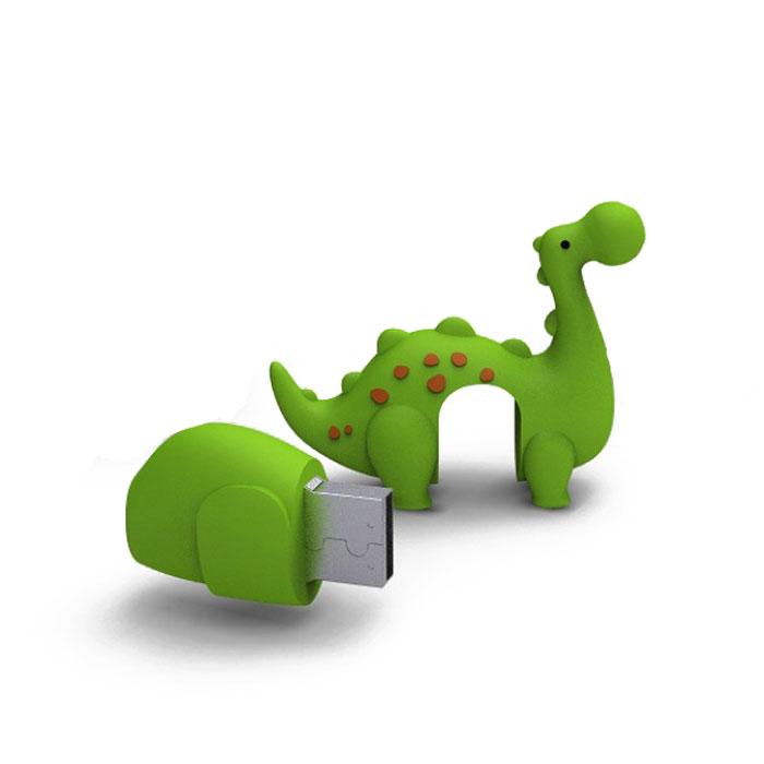 Iconik Динозавр 8GB USB-накопительRB-DINOG-8GBФлеш-накопитель Iconik Динозавр имеет весьма нестандартный дизайн. Накопитель ударопрочный и защищен резиновым корпусом, а высокая пропускная способность и поддержка различных операционных систем делают его незаменимым. Iconik Динозавр - отличный выбор современного творческого человека, который любит яркие и нестандартные вещи.