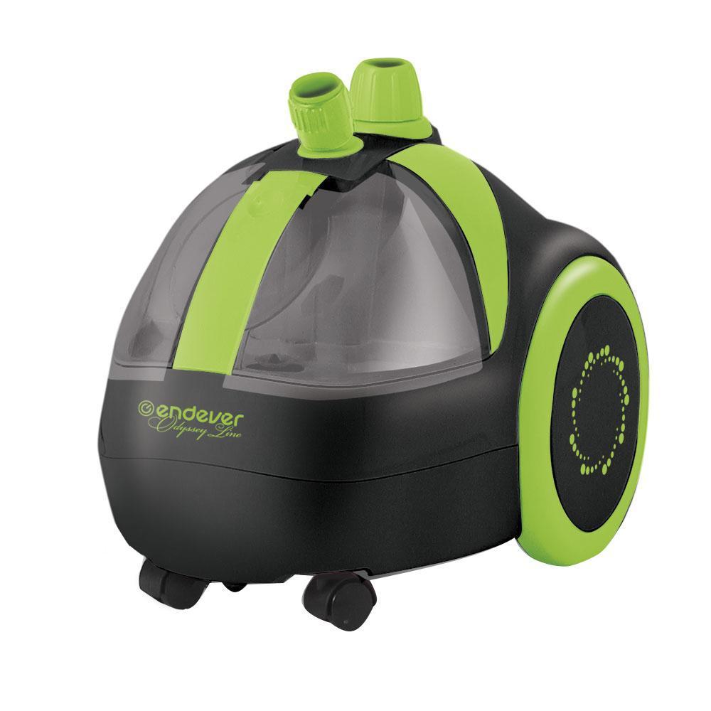 Endever Odyssey Q-310, Black Green отпаривательQ-310 Black GreenОтпариватель для одежды Q-310 мощность 1800 Вт, напряжение 230В-50Гц, производительность 30г/мин, объем бака 1,5 л, время работы 45 мин, цвет: черно-зеленый