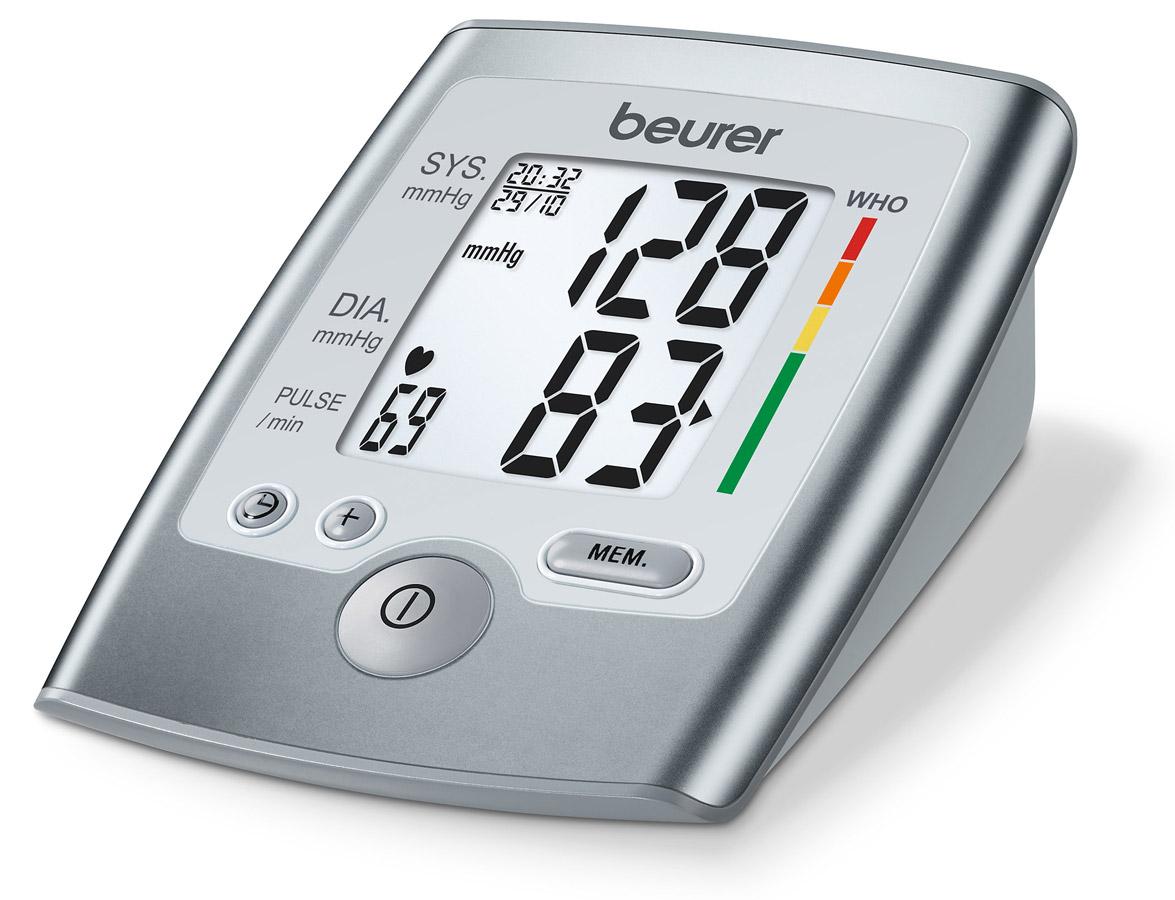 Тонометр Beurer BM357102026Тонометр Beurer BM35 для измерения кровяного давления в плечевой артерии служит для не инвазивного измерения и контроля артериального давления у взрослых пациентов. Вы можете с помощью этого прибора быстро и просто измерить кровяное давление, отобразить последний результат измерения, подсчитать средние показатели в целом и за неделю. Это интеллектуальный прибор, который также сможет предупредить о возможно имеющихся нарушениях сердечного ритма. Измерение артериального давления/пульса на предплечье Расчет среднего значения для всех сохраненных показателей Среднее значение показателей, измеренных по вечерам за последние 7 дней Среднее значение показателей, измеренных по утрам за последние 7 дней Большой, с большими символами ЖК-дисплей Градация ВОЗ (Всемирная организация здравоохранения) Индикатор аритмии сердечного ритма Установка даты и времени Автоматическое отключение, если прибор не используется Индикатор необходимости...