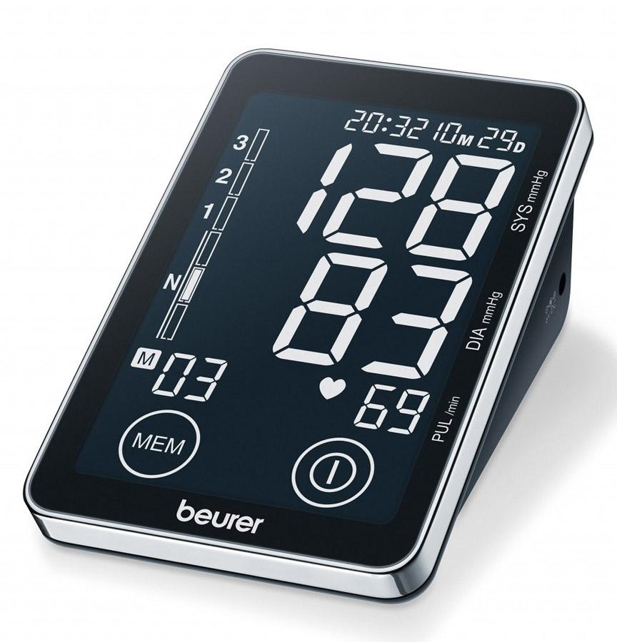 Тонометр Beurer BM587102029При помощи автоматического прибора для измерения давления крови Beurer BM 58 вы сможете быстро и без посторонней помощи провести измерение и сохранить данные, а так же вывести ранее сохраненные данные и средние значения. Тонометр предназначен для неинвазивного измерения и контроля артериального кровяного давления и пульса в плечевой артерии у взрослых. Автоматическое измерение артериального давления и частоты пульса в плечевой артерии Сенсорный дисплей Классификация по ВОЗ и распознание аритмии 2 x 60 ячеек памяти Расчет среднего значения Большой, хорошо видимый дисплей Возможна работа от блока питания Программное обеспечение включено в комплект поставки Дата и время Автоматическое отключение Индикация замены батарейки Для окружности плеча от: 22 до 30 см