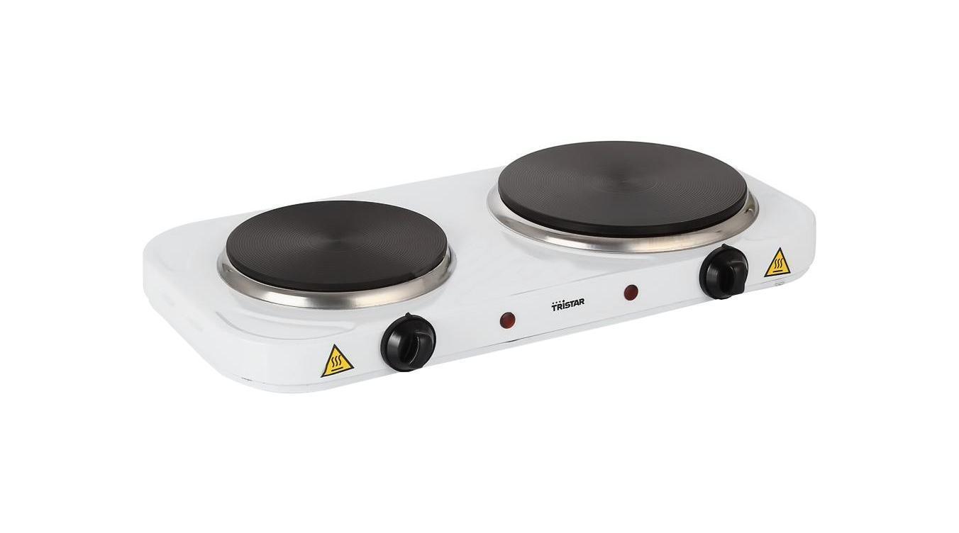Tristar KP-6245 плита настольнаяKP-6245Компактная настольная электрическая плитка с двумя нагревательными дисками различной мощности для использования на даче.