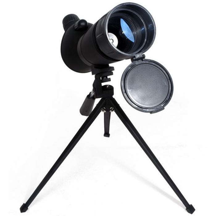 Bresser Spektiv 20-60x60 зрительная труба60196Зрительная труба Bresser Spektiv 20-60x60 – это мощный прибор с переменной кратностью для ведения наземных и начальных астрономических наблюдений. Увеличение изменяется в диапазоне от 20 до 60 крат, на больших увеличениях рекомендуется использовать входящий в комплект настольный штатив. Зрительная труба оборудована колесиками фокусировки и изменения кратности, а также удобным резиновым наглазником. Встроенная выдвижная бленда поможет защитить оптику от росы и ярких солнечных лучей. В комплект также входит защитная крышка объектива и мягкая сумка для транспортировки. Увеличение: 20-60x