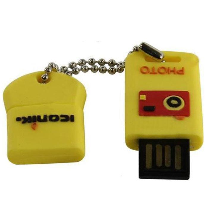 Iconik Для фото 8GB USB-накопительRB-FOTO-8GBФлеш-накопитель Iconik Для фото имеет весьма нестандартный дизайн. Накопитель ударопрочный и защищен резиновым корпусом, а высокая пропускная способность и поддержка различных операционных систем делают его незаменимым. Iconik Для фото - отличный выбор современного творческого человека, который любит яркие и нестандартные вещи.