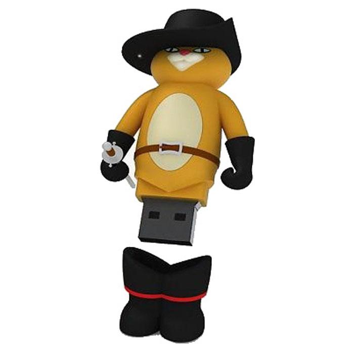 Iconik Кот в сапогах 16GB USB-накопительRB-PUSS-16GBФлеш-накопитель Iconik Кот в сапогах имеет весьма нестандартный дизайн. Накопитель ударопрочный и защищен резиновым корпусом, а высокая пропускная способность и поддержка различных операционных систем делают его незаменимым. Iconik Кот в сапогах - отличный выбор современного творческого человека, который любит яркие и нестандартные вещи.