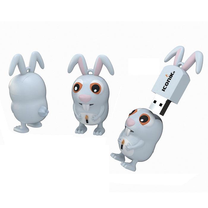 Iconik Кролик 8GB USB-накопительRB-RABi-8GBФлеш-накопитель Iconik Кролик имеет весьма нестандартный дизайн. Накопитель ударопрочный и защищен резиновым корпусом, а высокая пропускная способность и поддержка различных операционных систем делают его незаменимым. Iconik Кролик - отличный выбор современного творческого человека, который любит яркие и нестандартные вещи.