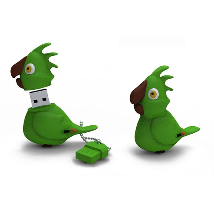 Iconik Попугай 16GB, Green USB-накопительRB-PARRG-16GBФлеш-накопитель Iconik Попугай имеет весьма нестандартный дизайн. Накопитель ударопрочный и защищен резиновым корпусом, а высокая пропускная способность и поддержка различных операционных систем делают его незаменимым. Iconik Попугай - отличный выбор современного творческого человека, который любит яркие и нестандартные вещи.