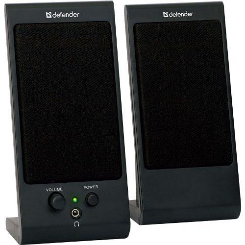 Defender SPK-170 акустическая система 2.0SPK-170 BlackDefender SPK-170 – современные компьютерные колонки с разъемом для наушников и регулятором громкости звука. Они идеально подойдут для повседневного использования в офисах и общеобразовательных учреждениях. Компактный размер. Колонки займут минимум места на рабочем столе, и вы сможете использовать освободившееся пространство по своему усмотрению. Регулятор громкости звука. Вам не придется переключаться на управление вашим плеером, чтобы увеличить или уменьшить звук. Регулируйте громкость одним движением! Разъем для наушников. Вы можете подключить наушники напрямую к колонке. Уровень громкости звука в наушниках также можно менять с помощью регулятора громкости на колонке. Магнитная экранировка корпуса. Вы можете поставить колонки в непосредственной близости от монитора - вам гарантирована четкая картинка без помех!