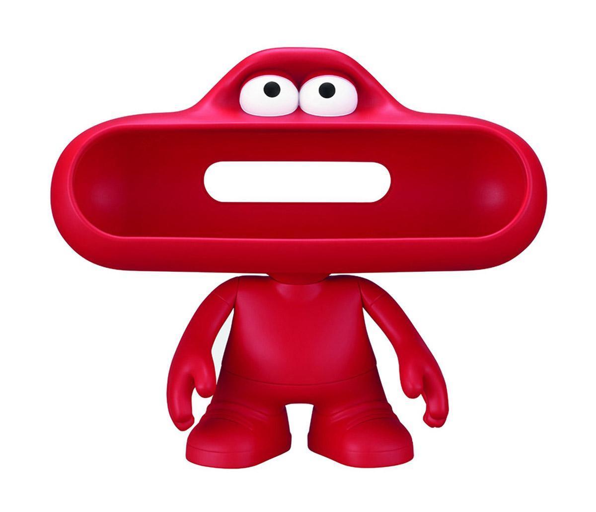 Beats Pill Dude, Red подставка под портативную акустикуPill Dude, RedАкустический аксессуар для колонок Beats Pill, идеально повторяет формы колонки и превращает ее в необычного, забавного человечка с подвижными конечностями
