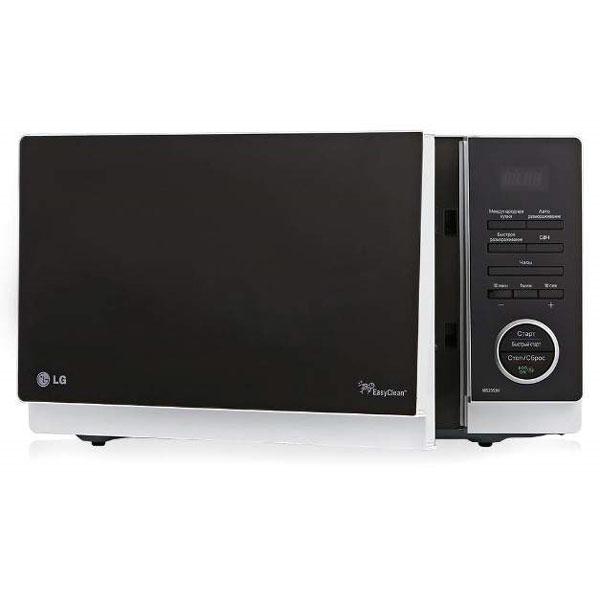 LG MS2353H, White СВЧ-печьMS2353HСтрогий классический дизайн микроволновой печи LG MS2353H позволит ей органично влиться в общий дизайн вашей кухни, а большое количество полезных функций, таких как автоматическое приготовление и автоматическое размораживание, сделает ее незаменимой помощницей в приготовлении вкусных блюд. Автопрограммы приготовления Международная кухня 32 уникальные программы, позволяющие легко и без усилий приготовить блюда по традиционным рецептам французской, итальянской, восточной и русской кухни. Достаточно лишь заложить необходимые продукты в камеру и выбрать подходящее меню, а печь сама установит оптимальный режим приготовления блюда для придания ему насыщенного и неповторимого вкуса. Легкоочищаемое покрытие LG EasyСlean Специальное легкоочищаемое покрытие LG EasyСlean внутренней камеры печи очищается от жира значительно быстрее и легче, по сравнению с обычным покрытием. Более того, компания LG предоставляет 10 лет гарантии на это покрытие. ...