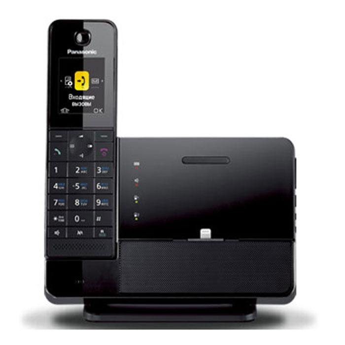Panasonic KX-PRL260RUB DECT телефон с док-станцией для iPhoneKX-PRL260RUBМодель Panasonic KX-PRL260RU была специально разработана для iPhone, соответствуя ему как в плане внешнего вида, так и в плане практичности использования. Базовый блок сочетает в себе стильный дизайн, и имеет возможность подключения и зарядки вашего iPhone с помощью разъема Lightning. Разъем Lightning подвижный, что позволяет легко и быстро снять iPhone с док-станции. Воспроизведение музыки или голосов во время видеосвязи на iPhone может производится с помощью динамиков базового блока. Вы можете использовать трубку дистанционно для регулировки громкости динамиков базового блока или воспроизведения, остановки, перемотки и повтора музыки на смартфоне. Данная функция совместима с устройствами Bluetooth с поддержкой технологии A2DP (Advanced Audio Distribution Profile ), включая устройства Android. Функция Link to Mobile позволяет с удобством пользоваться преимуществами мобильного телефона, находясь дома. Подключая Ваш мобильный телефон к базовому блоку при помощи...