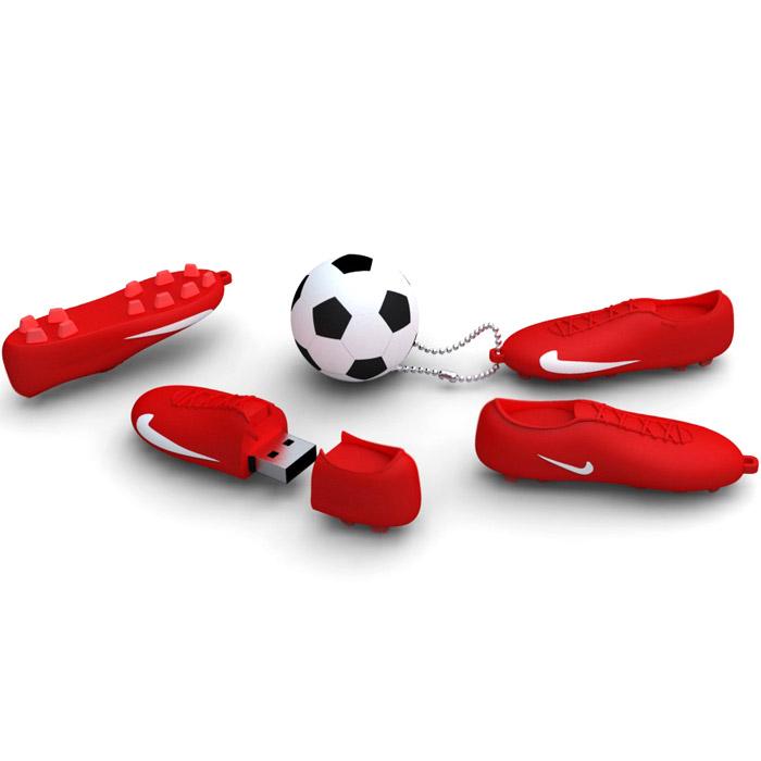 Iconik Футбол, Red White 16GB USB-накопительRB-FTBRW-16GBIconik Футбол (Rubber) - это стильный и компактный USB-накопитель, который позволит вам значительно расширить свои возможности в области обмена данными. Высокая скорость, внушительный объем и надежность хранения информации позволяют использовать накопитель как временное, так и небольшое постоянное хранилище.