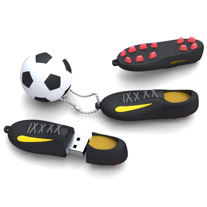 Iconik Футбол, Black 32GB USB-накопительRB-FTB-32GBIconik Футбол (Rubber) - это стильный и компактный USB-накопитель, который позволит вам значительно расширить свои возможности в области обмена данными. Высокая скорость, внушительный объем и надежность хранения информации позволяют использовать накопитель как временное, так и небольшое постоянное хранилище.