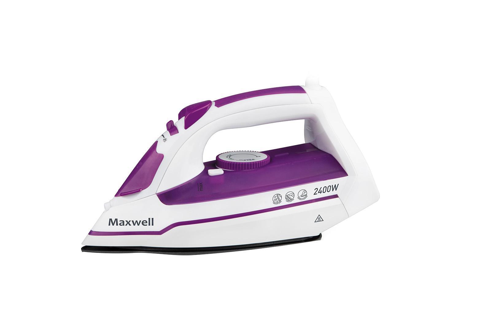 Maxwell MW-3035 (VT)MW-3035(VT)Затрудняетесь в выборе качественного утюга для ухода за вещами? Обратите внимание на утюг MAXWELL MW-3035 VT! Компактная модель наделена высокой мощностью и всеми необходимыми опциями для разглаживания вещей из разных тканей. Вы с легкостью измените температуру нагрева подошвы утюга, а также воспользуетесь системой разбрызгивания воды или паровым ударом для упрощения процесса глажки. Утюг привлекателен внешне, фиолетовые элементы корпуса приковывают взгляды. Пользоваться данным устройством максимально удобно, учитывая, что элементы управления расположены под рукой, а шнур питания характеризуется шаровым креплением.