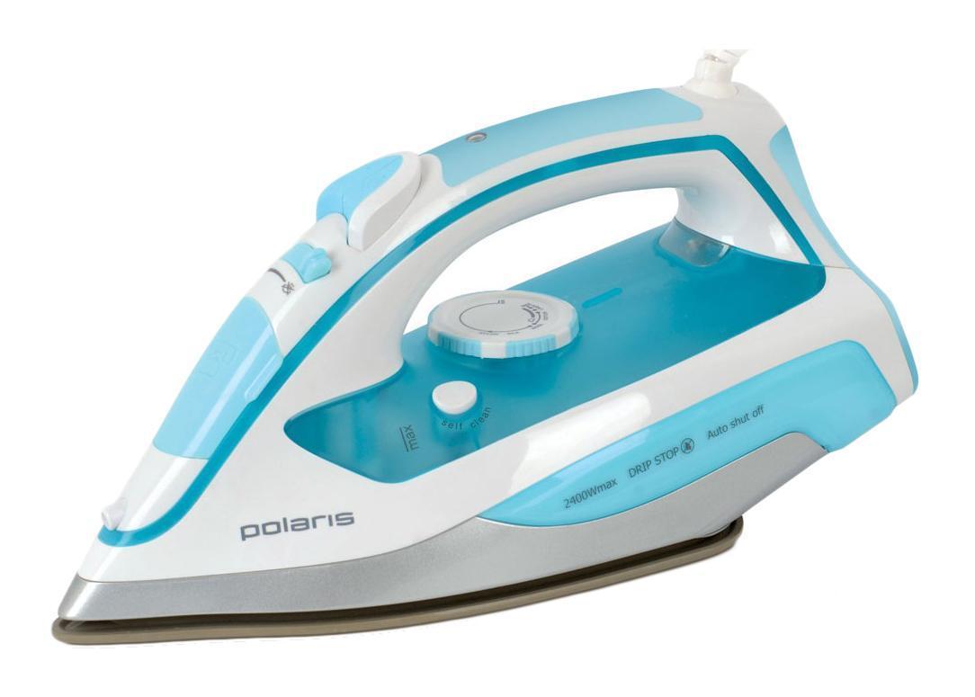 Polaris PIR 2469K Blue утюг5199Утюг Polaris PIR 2469K с уникальной керамической подошвой Crystal Ceramic легко и быстро справится с любыми складками. За счет высокой мощности в 2400 Вт подошва прибора моментально нагревается. Благодаря специальной заостренной форме носика утюг проглаживает самые труднодоступные места. Для наиболее эффективного разглаживания самых привередливых складок рекомендуется использовать паровой удар, скорость которого составляет 140 г/мин. Интенсивность парового потока можно регулировать либо совсем отключить подачу пара. Антикапельная система предотвращает протекание воды на одежду. Утюг Polaris PIR 2469K имеет внутренний резервуар для воды объемом 350 л, который наполняется через отверстие впереди корпуса. За счет такого большого резервуара вам не нужно будет постоянно отвлекаться от процесса глажки, чтобы доливать воду. Система защиты от накипи и функция самоочистки избавит вас от необходимости регулярно чистить прибор.