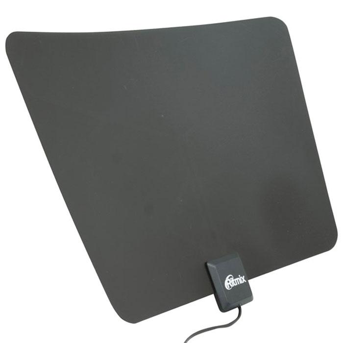Ritmix RTA-170 DVB-T2 Ultra Slim комнатная цифровая антенна ritmix rdf 808w black brown цифровая фоторамка