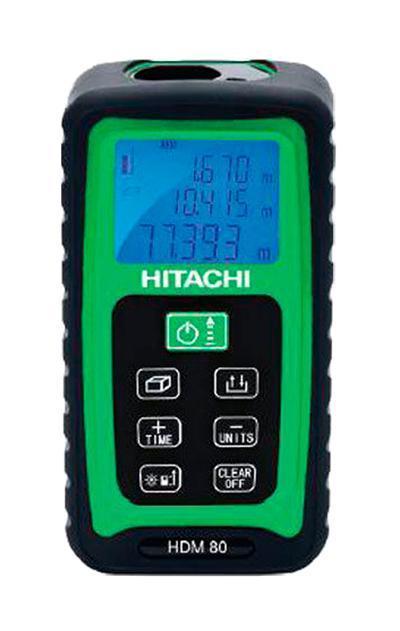 Дальномер лазерный Hitachi HDM 80HDM 80Лазерный дальномер Hitachi HDM 80 предназначен для проведения измерительных работ. Данный прибор позволяет измерять расстояние, площадь, непрерывность, объем, стороны с точностью до миллиметра. Благодаря малым габаритам прибор с легкостью помещается в ладони. Экран с фоновой подсветкой обеспечивает считывание данных даже в темноте. Кнопка измерения стороны легко нажимается в тесном пространстве. Диапазон работы: 0.05 до 80 м; Класс лазера: II; Длина волны: 635 nm; Мощность: Пылевлагозащита: IP54; Питание 2хААА 1.5В.