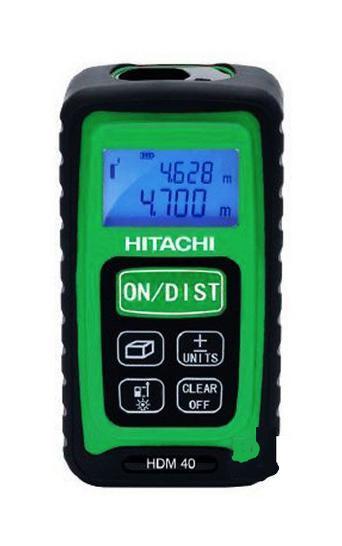 Дальномер лазерный Hitachi HDM 40HDM 40Лазерный дальномер Hitachi HDM 40 предназначен для проведения измерительных работ. Данный прибор позволяет измерять расстояние, площадь, непрерывность, объем, стороны с точностью до миллиметра. Благодаря малым габаритам прибор с легкостью помещается в ладони. Экран с фоновой подсветкой обеспечивает считывание данных даже в темноте. Кнопка измерения стороны легко нажимается в тесном пространстве. Диапазон работы: 0.05 до 40 м; Класс лазера: II; Длина волны: 635 nm; Мощность: Пылевлагозащита: IP54; Питание 2хААА 1.5В.