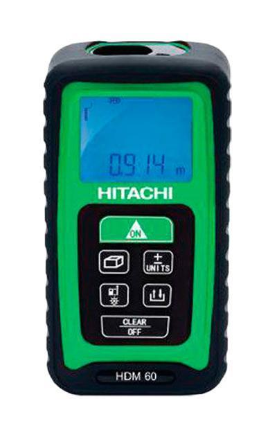 Дальномер лазерный Hitachi HDM 60HDM 60Лазерный дальномер Hitachi HDM 60 предназначен для проведения измерительных работ. Данный прибор позволяет измерять расстояние, площадь, непрерывность, объем, стороны с точностью до миллиметра. Благодаря малым габаритам прибор с легкостью помещается в ладони. Экран с фоновой подсветкой обеспечивает считывание данных даже в темноте. Кнопка измерения стороны легко нажимается в тесном пространстве. Диапазон работы: 0.05 до 60 м; Класс лазера: II; Длина волны: 635 nm; Мощность: Пылевлагозащита: IP54; Питание 2хААА 1.5В.