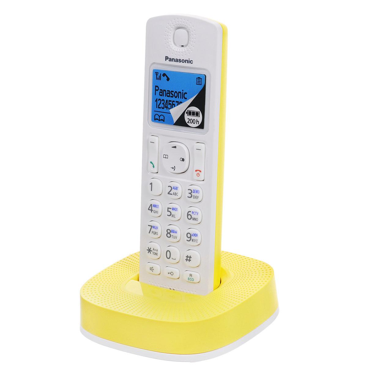 Panasonic KX-TGC310RUY, White Yellow DECT телефон ( KX-TGC310RUY )