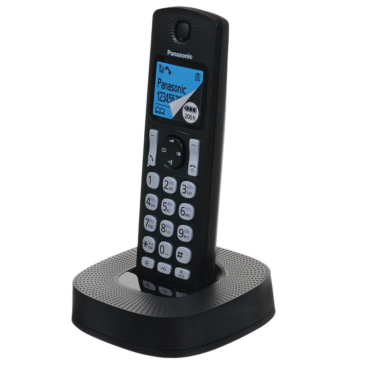 Panasonic KX-TGC310RU1, Black DECT телефонKX-TGC310RU1Panasonic KX-TGC310RU - компактный и стильный DECT-телефон, который впишется в любой интерьер. Сведите к минимуму количество нежелательных звонков. Вы можете заблокировать любой выбранный номер, а также любые последовательности чисел (от 2 до 8 цифр), совпадающие с номерами, внесенными в черный список. С помощью специальной кнопки блокировки клавиш вы можете избежать случайных вызовов и нежелательных изменений настроек, поэтому телефон можно с удобством носить в кармане. Питание устройства осуществляется от аккумуляторов типа Ni-MH (в комплекте). Функция быстрого набора - есть