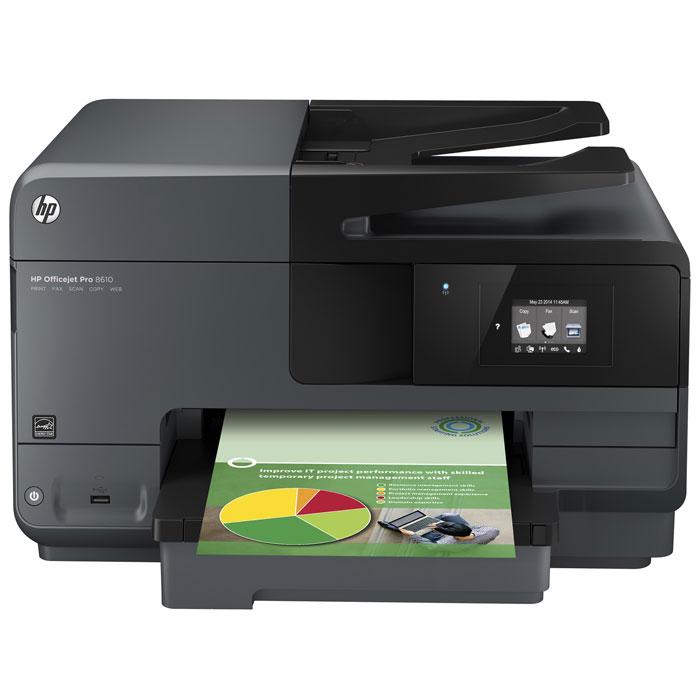 HP Officejet Pro 8610 (A7F64A) МФУA7F64AHP Officejet Pro 8610 (A7F64A) - высокопроизводительное МФУ для профессиональной офисной цветной печати со стоимостью одной страницы до 50 % ниже, чем при использовании лазерной печати. Устройство поддерживает печать с помощью сенсорного экрана, через беспроводную связь, а также напрямую с мобильных устройств, совместимых с HP ePrint. Оригинальные пигментные чернила HP позволяют печатать документы профессионального качества с насыщенным, контрастным черным цветом текста и яркими, долговечными цветными отпечатками. Печатайте двусторонние листовки, фотографии без полей, яркие брошюры и другие рекламные материалы. Благодаря службе HP ePrint печатать документы с помощью смартфона, планшетного ПК или ноутбука можно из любого удобного вам места и в любое удобное время. Подключение 10/100 Ethernet позволяет совместно использовать это высокоэффективное решение для печати. Благодаря жестам управления на сенсорном экране вы можете легко получить доступ к...